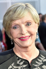 Florence Henderson opted for a short side-parted hairstyle when she attended the Television Academy's 70th anniversary gala.