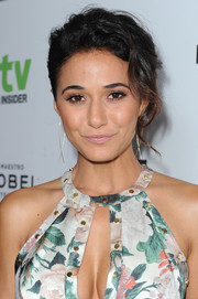 Emmanuelle Chriqui wore her hair in a sophisticated loose bun during the Television Industry Advocacy Awards.