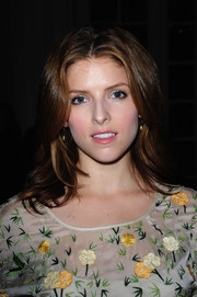Anna Kendrick was stylishly coiffed with face-framing layers during the Temperley London fashion show.