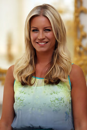 Denise van Outen looked fresh with her hair down at the photocall of Tesco Mum of the Year.