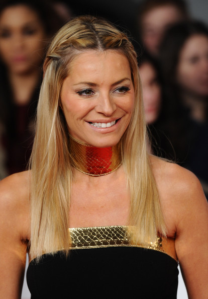 Tess Daly Long Braided Hairstyle