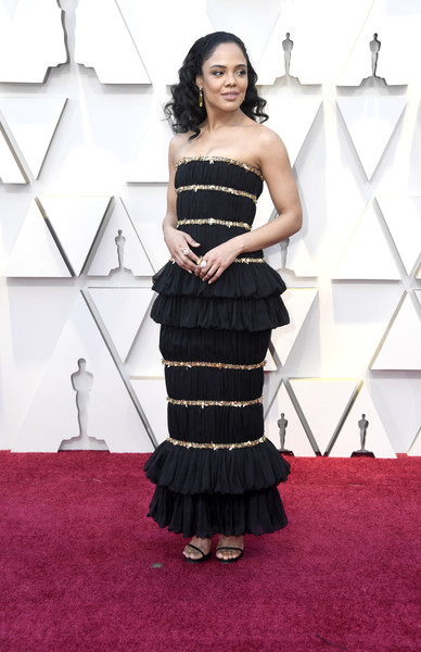 Tessa Thompson Strapless Dress