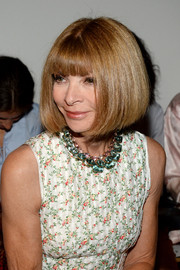 Anna Wintour made an appearance at the Thakoon fashion show, of course wearing her signature bob.