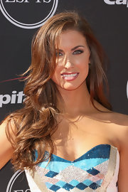 Katherine Webb showed off her auburn layers with a classic blow out.