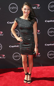 Kyla Ross sparkled in a black mini dress at the 2013 ESPY Awards.
