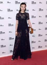 Sissi Hou was a head turner at the 2015 Center Dinner in her sheer black lace gown.