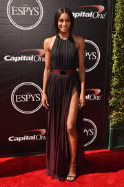 Ciara was sexy, goth, and glam in equal parts in this Elie Saab ombre halter gown during the ESPYs.