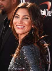 Hope Solo wore her hair in a cascade of feathery waves during the ESPYs.