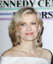 Diane Sawyer sported wispy waves and side-swept bangs at the 34th Kennedy Center Honors.