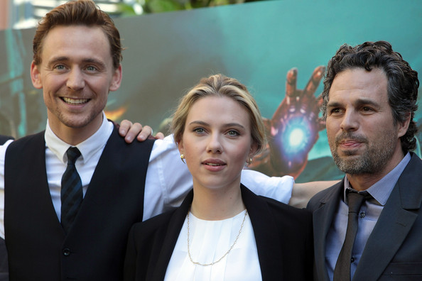 Scarlett Johansson wore a Talulah faceted stone strand necklace to the Rome photocall for 'The Avengers.'