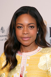 Naomie Harris sported soft side-parted waves at the BAFTA tea party.