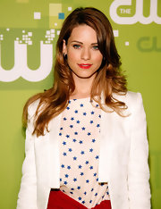 Lyndsy Fonseca styled her hair in soft curls for the CW Networks 2011 Upfront event.
