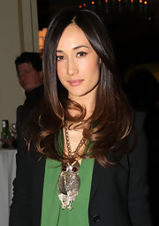 Maggie Q rocked perfectly polished locks at the Winter TCA party.