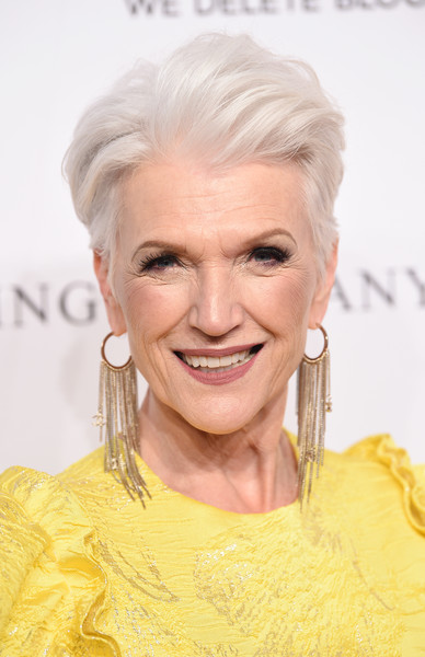 Maye Musk attended the DKMS Love Gala 2018 wearing her silver hair in a fauxhawk.