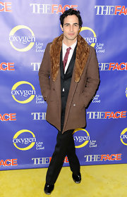 Zac Posen looked polished and classic at the premiere of 'The Face,' when he wore a fur-trimmed wool coat.