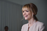 Jaime King looked cute with her retro ponytail at the Game of Plenti event.