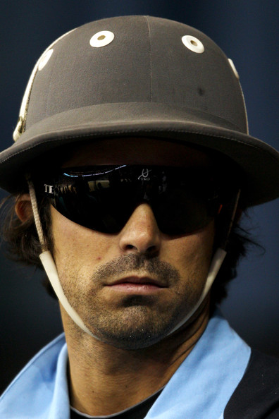 Nacho Figueras looked futuristic with his wrap-around sunglasses at the Gaucho International Polo.