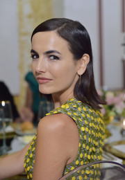 Camilla Belle sported a slick hairstyle with flipped ends at the Getty + C Magazine dinner.