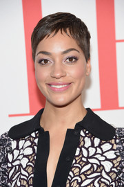 Cush Jumbo looked oh-so-cool with her pixie at the 'Good Wife' finale party.
