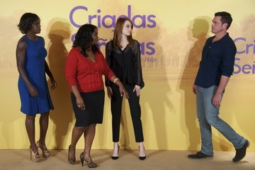 Emma Stone Viola Davis 'The Help' Photocall in Madrid