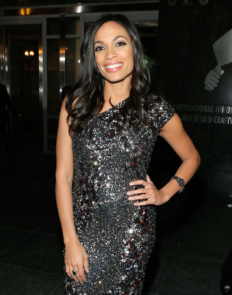 More Pics of Rosario Dawson Beaded Dress (1 of 10) - Rosario Dawson Lookbook - StyleBistro