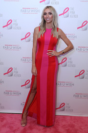 Giuliana Rancic was eye candy in a fitted color-block gown by Camila Ferres at the Pink Agenda Gala.