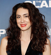 Mozhan Marno wore her tresses down in a thick, curly style during the premiere of 'The Slap.'