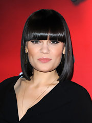 Jessie J's locks were sleek and sophisticated in this super straight 'do with blunt bangs.