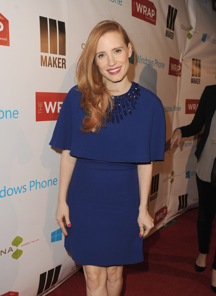 More Pics of Jessica Chastain Cocktail Dress (1 of 8) - Jessica Chastain Lookbook - StyleBistro