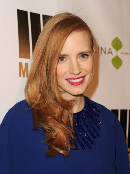 More Pics of Jessica Chastain Cocktail Dress (2 of 8) - Jessica Chastain Lookbook - StyleBistro