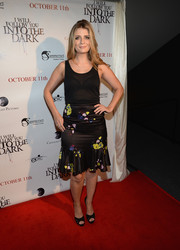 Mischa Barton paired a fit-and-flare floral skirt with a tank top for a girly feel at the premiere of 'I Will Follow You Into the Dark.'