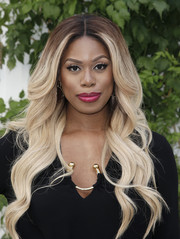 Laverne Cox was gorgeously coiffed with long ombre waves at the 'Who Do You Think You Are?' FYC event.