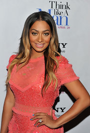 La La Anthony swept on glittery blue nail polish and added a few well-placed stars for the premiere of 'Think Like a Man.'