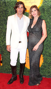 Nacho Figueras sported an elegant-meets-edgy look with his white tux and riding boots combo at the Veuve Clicquot Polo Classic.