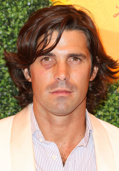 Nacho Figueras wore his hair in tousled feathered waves at the Veuve Clicquot Polo Classic.