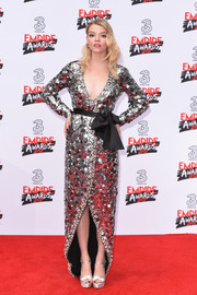Anya Taylor-Joy looked sublime in a paillette-embellished wrap gown by Miu Miu at the Three Empire Awards.