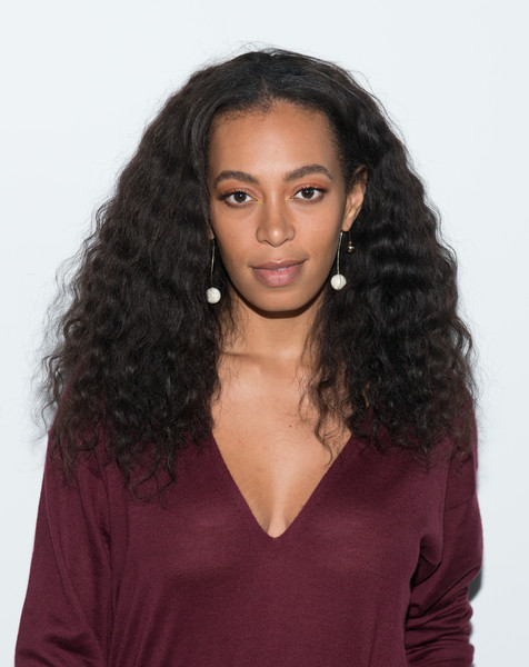 Solange Knowles attended the Tibi fashion show wearing her natural curls.