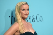 Reese Witherspoon opted for a simple straight hairstyle when she attended the Tiffany & Co. Blue Book Collection Gala.