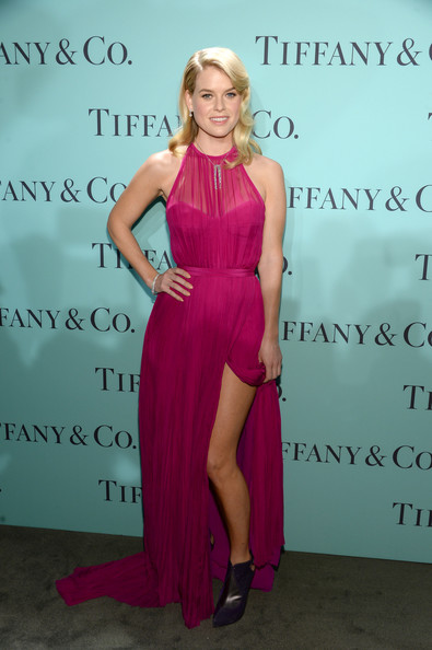 Alice Eve in Hot Magenta