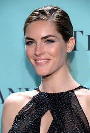 Hilary Rhoda chose a classic bun for her red carpet updo at the Tiffany Blue Book Ball in NYC.