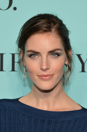 Hilary Rhoda attended the 2014 Blue Book debut wearing a gorgeous pair of Tiffany & Co. Legacy diamond earrings.