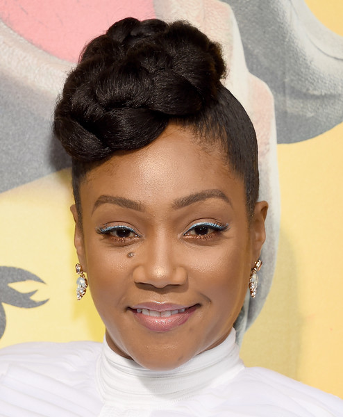 Tiffany Haddish Braided Updo [the lego movie 2: the second part,the lego movie 2: the second part - arrivals,hair,hairstyle,face,eyebrow,black hair,forehead,chin,beauty,lip,human,tiffany haddish,regency village theatre,california,westwood,warner bros. pictures,premiere]