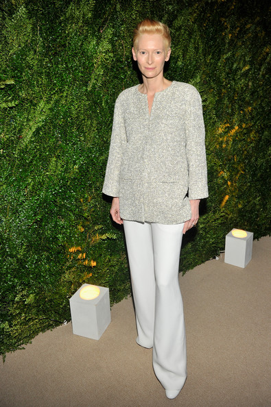 Tilda Swinton Wide Leg Pants