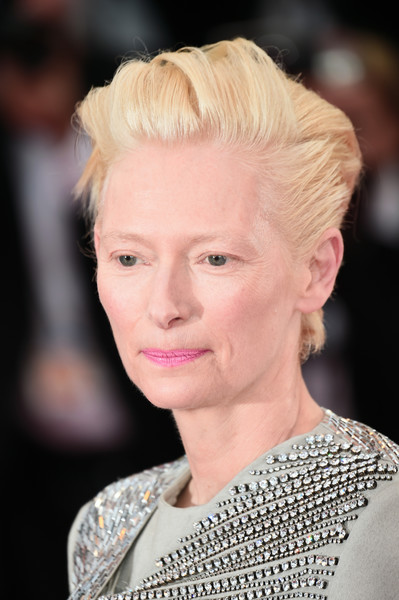 Tilda Swinton Fauxhawk [the dead dont die opening ceremony red carpet,the dead dont die,hair,face,hairstyle,eyebrow,blond,lip,fashion,chin,beauty,skin,tilda swinton,screening,cannes,france,the 72nd annual cannes film festival,ceremony]