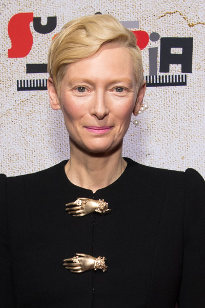 Tilda Swinton Short Side Part