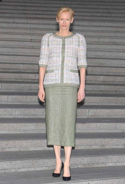 Tilda Swinton Skirt Suit