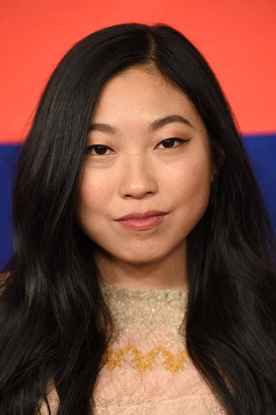 More Pics of Awkwafina Evening Dress (1 of 3) - Awkwafina Lookbook - StyleBistro [hair,face,eyebrow,hairstyle,chin,forehead,lip,long hair,black hair,cheek,awkwafina,time 100,pier 17,new york city]