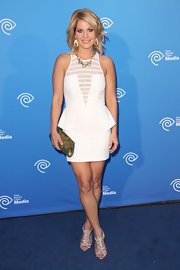 Candace Cameron Bure arrived at an Upfront event wearing sparkling bejeweled sandals.