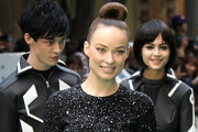 Olivia Wilde Wears a Jewel Encrusted Mini Dress