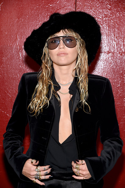 More Pics of Miley Cyrus Fur Hat (5 of 14) - Winter Hats Lookbook - StyleBistro [eyewear,cool,glasses,hairstyle,hat,sunglasses,headgear,long hair,outerwear,vision care,arrivals,tom ford - arrivals,tom ford,miley cyrus,new york city,new york fashion week]